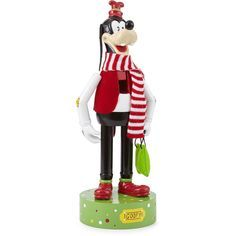 "Disney Goofy 14"" Holiday Nutcracker Figurine ($28) ❤ liked on Polyvore featuring home, home decor, holiday decorations, disney figure, disney holiday decor, disney nutcracker and holiday nutcrackers"
