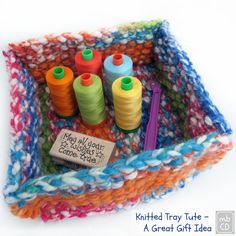 Adorable Knitted Tray | AllFreeKnitting.com