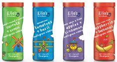 Ella's Kitchen  new design initiative for the brand. The designs launch with a new range of snacking products