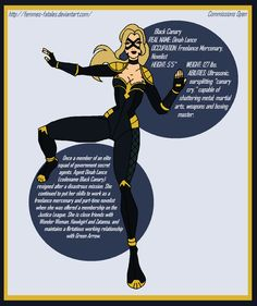 Justice League - Black Canary Redesign by *Femmes-Fatales Elite Squad, Martial Arts Weapons, Team Arrow, Black Canary, Dark Horse, Comic Character, Justice League, Marvel Dc, Dc Comics