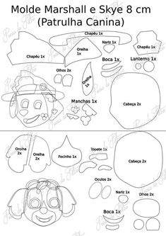 Printable Paw Print Templates, free for personal arts and