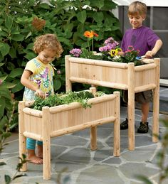 Gardens to Grow By Child-Sized Garden Planters, set of 2