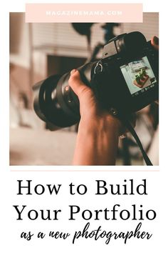 One hurdle that every new photographer faces is how to build a portfolio. You can't bring in new clients if you don't have photos to show them. Check out this guide if you are struggling to build your portfolio!  #photography #photographytips #photographybusiness