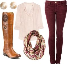"""Cords and Boots"" by heatherleeboone on Polyvore"
