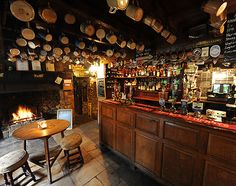 The Falkland Arms in the Village of Great Tew, Cotswolds, England - one of the oldest pubs around!