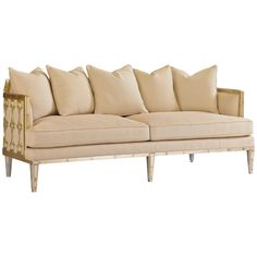 Caracole The Bee'S Knees / Caramel Leaf Sofa UPH-SOFWOO-48A