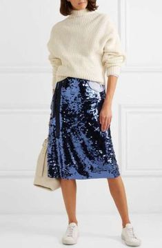 New NWT HOBBS Womens York Dress -Blue Sleeveless A-line Embroidered Flare- Sz 12 Fashion Women skirt. Fashion is a popular style Navy Skirt Outfit, Black Skirt Outfits, Sequin Outfit, Winter Skirt Outfit, Outfit Summer, Skirt Fashion, Fashion Outfits, Fashion Women, Casual Night Out