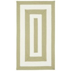 "Capel Willoughby Cream Striped Outdoor Area Rug Rug Size: Concentric 1'8"" x 2'6"""