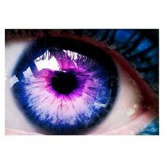 blue and purple eye