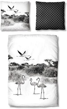 Bettwäsche, Auro Hometextile, »Flamingo«
