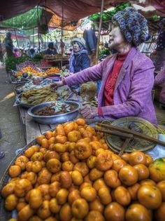 Market, Nyaungu, Mandalay, Myanmar