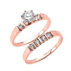 Stainless Steel Rose// Pink Gold Color Plated Channel-Set Eternity Comfort Fit Band Ring w Fire Opal Orange CZ