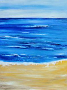 """""""Beach Day"""" - original acrylic painting by AR #painting #beach #amirarahim"""