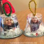 Snow Globe Cup Ornaments - Crafty Morning