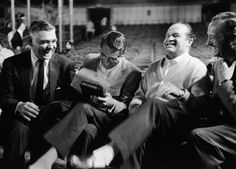 Clark Gable, Cary Grant, Bob Hope, and David Niven together during a break for the 30th Academy Awards show in Los Angeles, 1958.