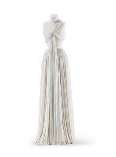 Madame Grès evening dress, 1973From the Kunstgewerbemuseum, Staatliche Museen zu Berlin via Europeana Fashion