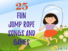 The ulimate list of 25 jump rope songs, rhymes, and games. Enjoy some traditional jump rope songs as well as some catchy new songs. Hours of entertainment Gross Motor Activities, Music Activities, Fun Games, Preschool Activities, Jump Rope Songs, Jump Rope Games, Teaching Kids, Kids Learning, Elementary Physical Education