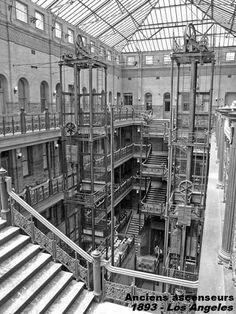 Anciens ascenseurs - 1893 - Los Angeles