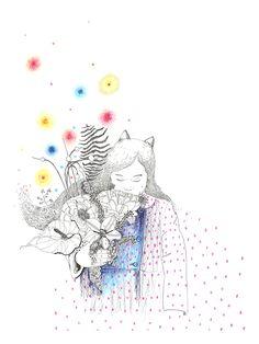 "La  ""Fillechat"" dessin de Sophie Truant / Illustrationst disponible en tirages d'art édité par @Lillustreboutique Illustrations, Drawing, Disney Characters, Fictional Characters, Boutique, Disney Princess, Artwork, Budget, Catgirl"