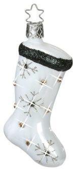 Inge's Christmas Decor Glitzy Stocking Glass Ornament