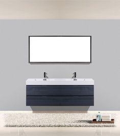 Kube Bath Kubebath Bliss 59Inch Single Sink Bathroom Vanity Gray Stunning 72 Inch Bathroom Vanity Double Sink Decorating Inspiration