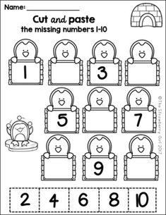 Kindergarten Math Worksheets - Winter- The Kindergarten Math Worksheets packet is filled with fun and adorable math worksheets that will engage your children with a Winter theme. Numbers Preschool, Preschool Learning, Free Preschool, Teaching, Preschool Winter, Math Numbers, Learning Numbers, Kindergarten Math Worksheets, Math Activities