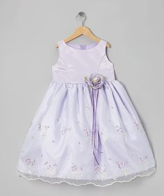 Another great find on #zulily! Lilac Embroidered Floral Dress - Infant, Toddler & Girls #zulilyfinds