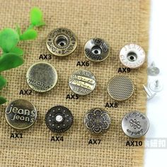 Click Our Letters Rivets Gallery to See More Style and Color . Jeans Button, Shake, Cufflinks, Stud Earrings, Buttons, Letters, Accessories, Tags, Smoothie