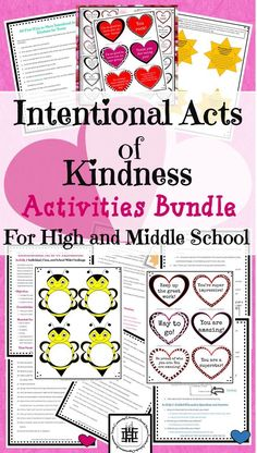 This acts of kindness bundle is great for engaging middle school and high school students in challenges, projects, and reflection activities. It is perfect for individuals, groups, and school-wide activities for teens and young adults, to show random and
