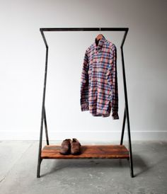 "The ""Greta"" clothing rack designed by Sit and Read for the Neighbour store in Vancouver, BC."