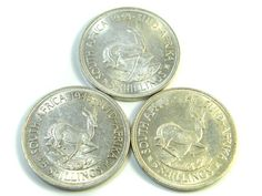 THREE UNC 5 SHILLINGS SOUTH AFRICA  SILVER COINS   CO -117  silver coin south africa