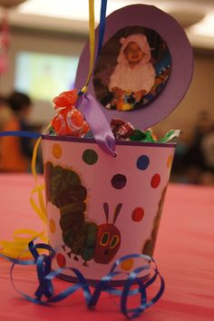Eric Carle themed party centerpieces