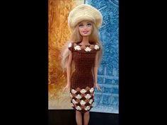 vestido de crochê 3 para barbie, fácil e elegante - YouTube