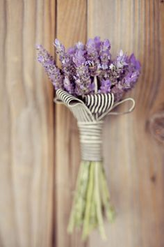 fall boutonniere lavender with striped ribbon Lavender Boutonniere, Lavender Bouquet, Boutonnieres, Lavender Flowers, Purple Wedding, Our Wedding, Dream Wedding, Wedding Lavender, Wedding Beauty