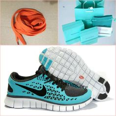 Mens Nike Free Run Light Blue Black Shoes half off