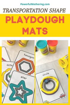 Beep! Beep! Kids love playing with toy cars and trucks. The same goes for their love of playdough! Check out the blog for more details on this Transportation Shape Playdough Mats! This sensory activity perfect for shape recognition will surely make your child's learning experience so much fun! This educational activity is so easy to prepare and is so much fun for your little one as well! #educationalprintables #learningshapes Learning Shapes, Play Based Learning, Learning Tools, Early Learning, Kids Learning, Playdough Activities, Preschool Learning Activities, Hands On Activities, Educational Activities
