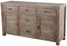 Post & Rail Large Buffet - Sundried | Sideboards And Cabinets | Eat | Products | LH Imports