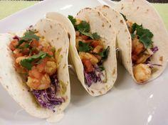 West Coast Style Shrimp Tacos