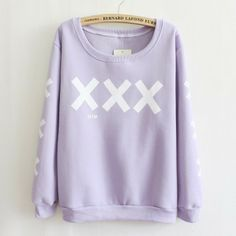 [Magic] big XXX front and sleeve specail printed cotton hoodies for women warm well fleece inside sweatshirt women 5 color free US $15.99
