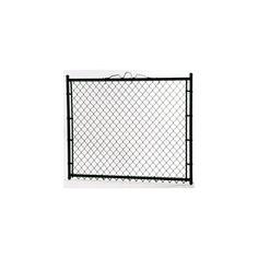 3-ft x 4-ft Black Galvanized Steel Chain-Link Walk Gate