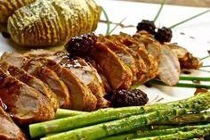 Pork Tenderloin With Blackberry Balsamic Glaze. ~