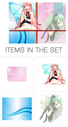 """Vocaloid sisters"" by jujuispirit ❤ liked on Polyvore featuring art"