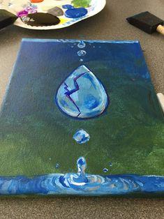 Cracked Lapis Lazuli painting