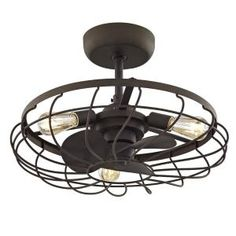 allen + roth Santiago Bronze LED Indoor Ceiling Fan with Light Kit and Remote at Lowe's. Showcasing an aged bronze finish, this transitional ceiling fan is equally at home in a chic industrial-style loft or a farmhouse-style home. Bedroom Ceiling, Bedroom Lighting, Vintage Industrial, Industrial Style, Industrial Ceiling Fan, Industrial Bedroom, Industrial Door, Industrial Living, Chandeliers