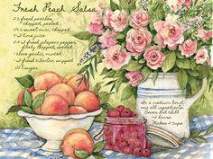 Susan Winget Irish Peach Salsa Lang - May 2015 Wallpaper   American Kitchen