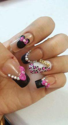Minnie mause uñas #Nailstylepozarica