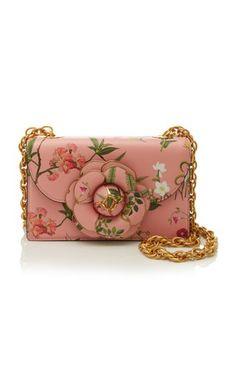 Floral Crossbody Bag by Oscar de la Renta trunkshow! Shop the latest Oscar de la Renta collection at Moda Operandi. Novelty Handbags, Judith Leiber, Printed Bags, Evening Bags, Leather Shoulder Bag, Shoulder Bags, Dust Bag, Floral Prints, Crossbody Bag