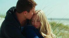 "Channing Tatum gives Amanda Seyfried a kiss on the forehead in ""Dear John"""