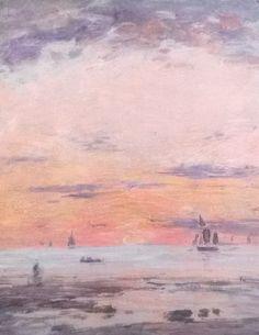 Ebb on sunset | Eugène Boudin [1880–1885]