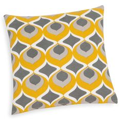 Housse de coussin en coton jaune 40 x 40 cm NOLLAN
